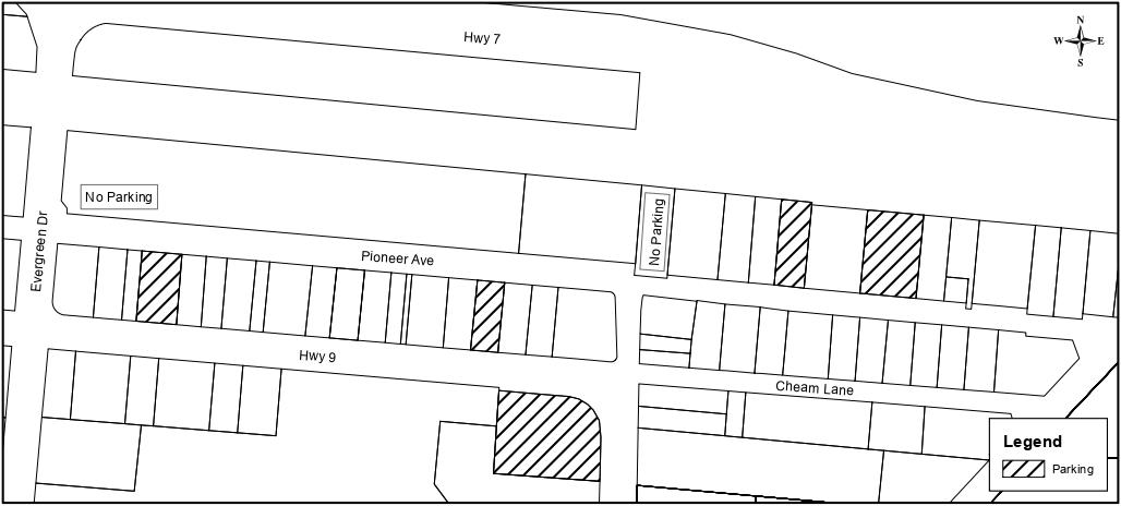 Public parking map