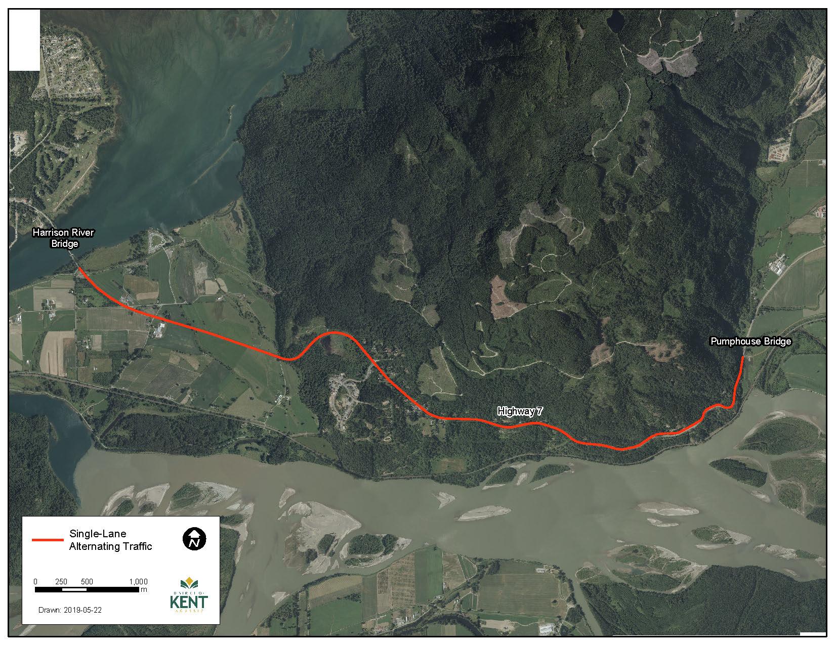 Map of Highway 7