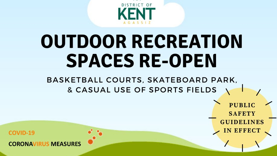 Outdoor recreation spaces re-open poster